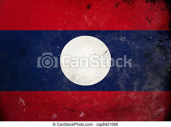 Grunge Flag of Laos - csp8421066