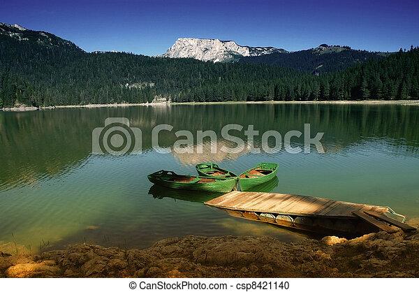 Lake in Durmitor Rak, Montenegro - csp8421140