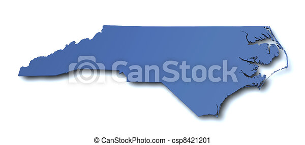 Map of North Carolina - USA - csp8421201
