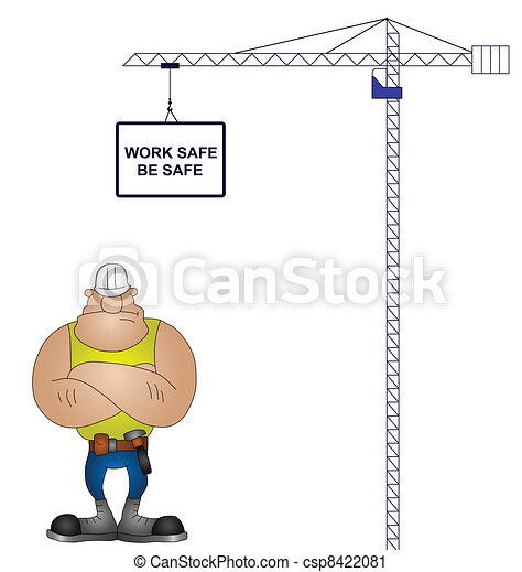 Vector Clip Art of health and safety - Crane health and safety ...
