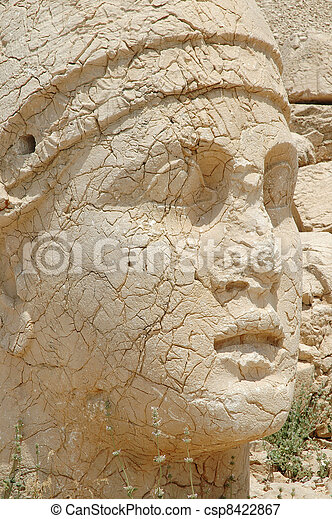 Monumental god heads, Nemrut - csp8422867