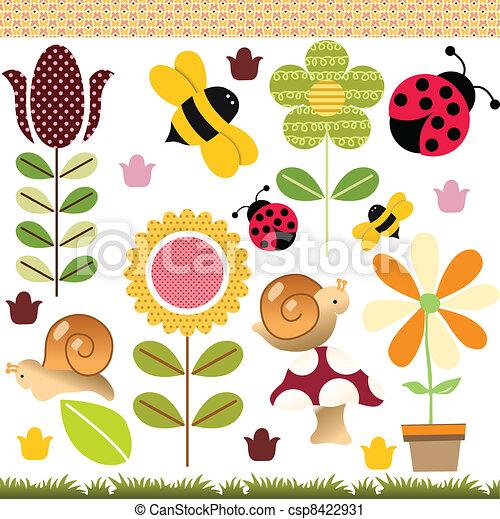 Spring Collage - csp8422931