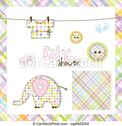 Baby shower elements - csp8423204