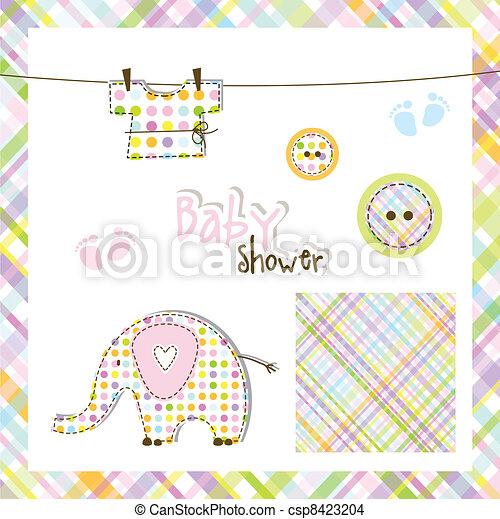 Baby shower elements - csp8423204