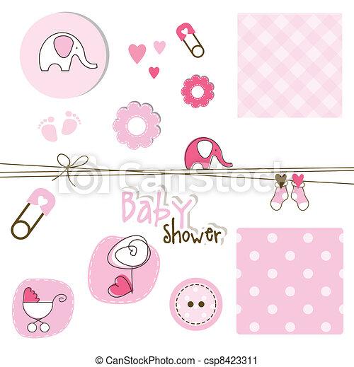 Baby shower elements - csp8423311