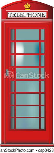 Telephone booth - csp8423630