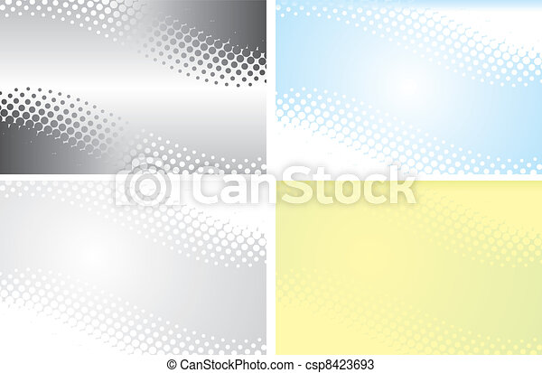 abstract halftone background in vector  - csp8423693
