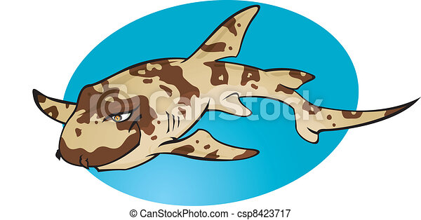 Cartoon Bamboo shark - csp8423717