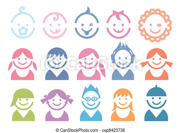 baby and children faces - csp8423736