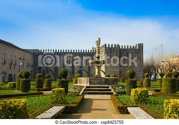 Palace of bishop, Braga, Portugal - csp8423755