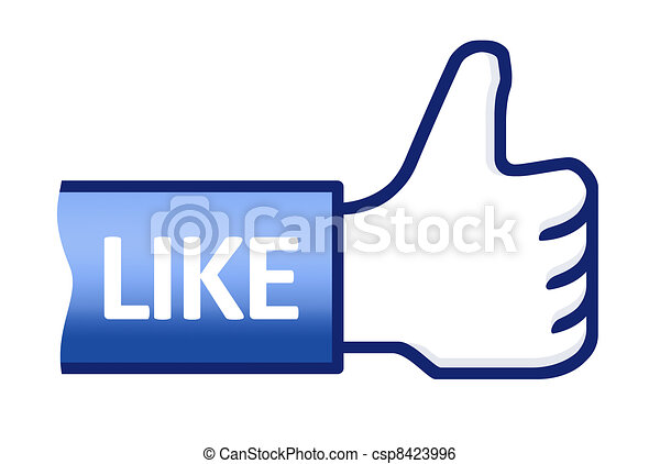 Thumb Up Like Symbol - csp8423996