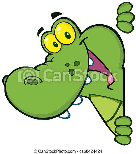 Happy Crocodile - csp8424424