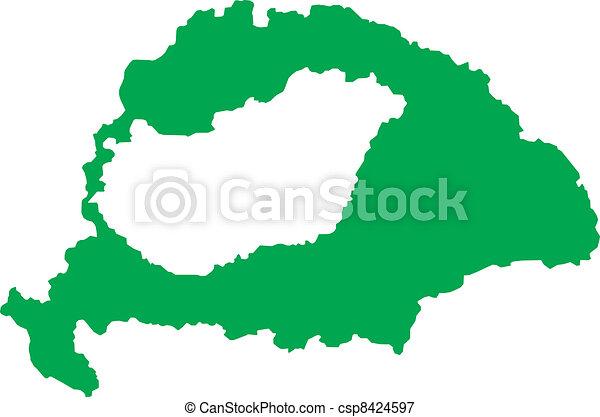 Historic Hungarian Empire - csp8424597