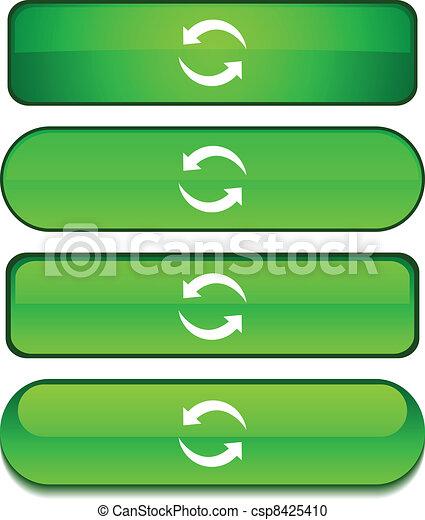Refresh  button set. - csp8425410