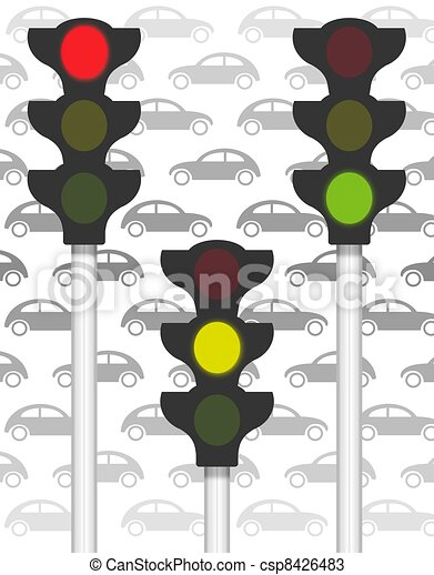 traffic signals on traffic - csp8426483