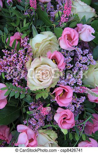 stock fotografie von rosa verschieden lila schatten anordnung gemischter csp8426741. Black Bedroom Furniture Sets. Home Design Ideas