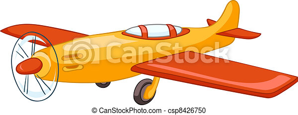 Cartoon Airplane - csp8426750