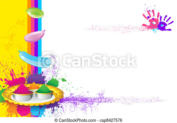 Holi Wallpaper - csp8427576