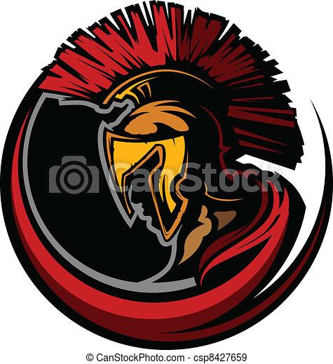 Roman Centurion Mascot Head with He - csp8427659
