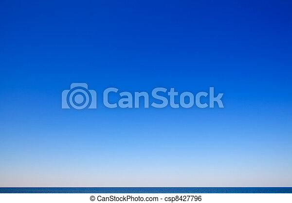 hermoso, Vista marina, azul, cielo - csp8427796