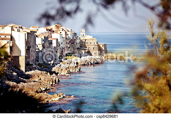 Old fishing town Cefalu - csp8429681