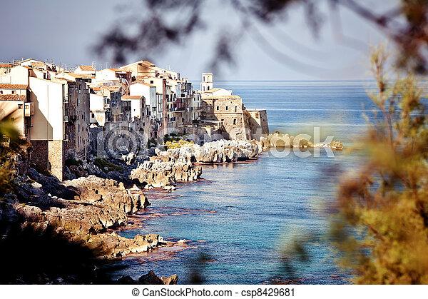 Old fishing town Cefalu - csp8429681
