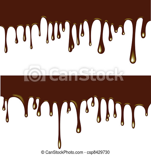 flowing chocolate drops - csp8429730