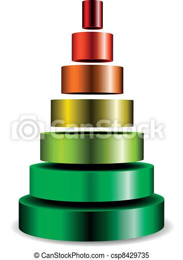 metallic cylinder pyramid - csp8429735
