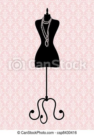 Vintage Mannequin - csp8430416