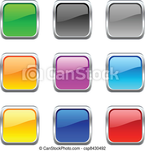 Web buttons. - csp8430492