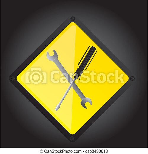 tools sign - csp8430613