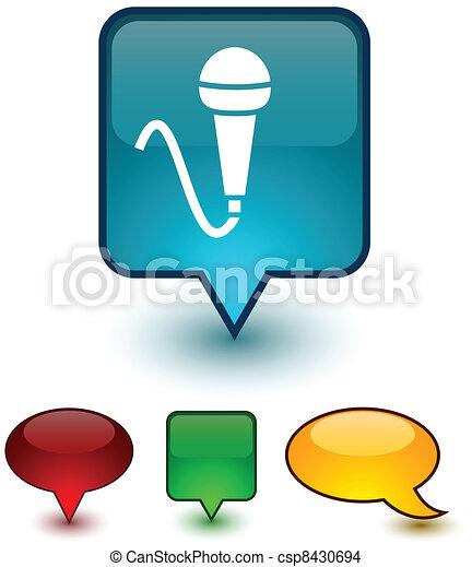 Mic speech comic icons. - csp8430694