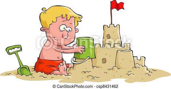 Sand castle - csp8431462