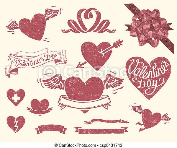 Valentine%u2019s day set - csp8431743