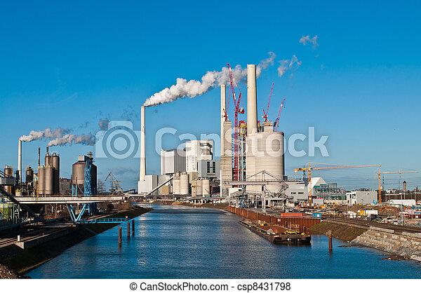 Power plant erection site - csp8431798