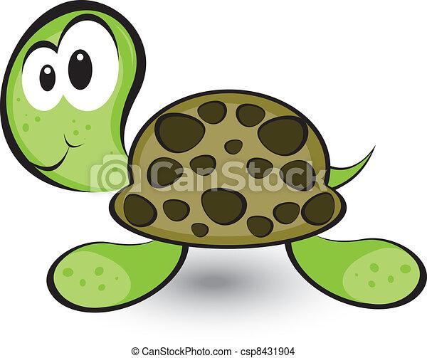 EPS vector de tortuga, caricatura, alegre - caricatura, alegre ...