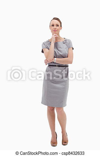 Thoughtful businesswoman posing - csp8432633