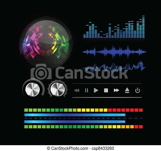 Sound waves set  - csp8433260