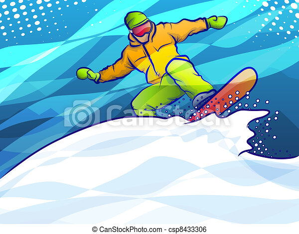 Snowboarding Action - csp8433306