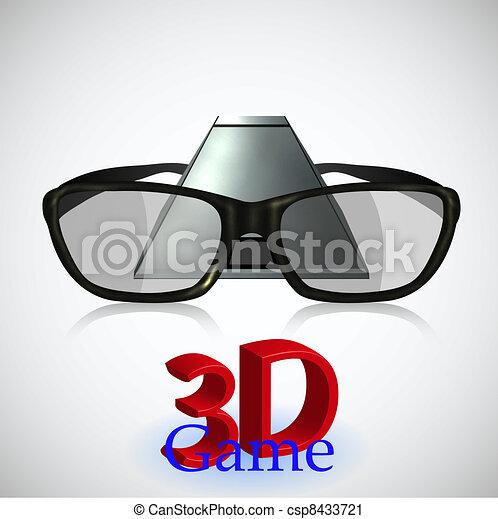 3D gaming. New technology. Vector illustration - csp8433721