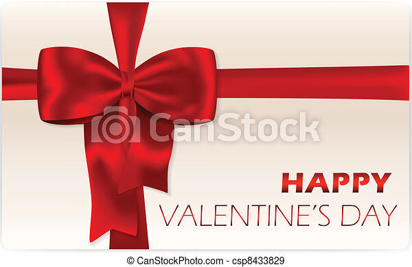 Valentine's day gift card - csp8433829