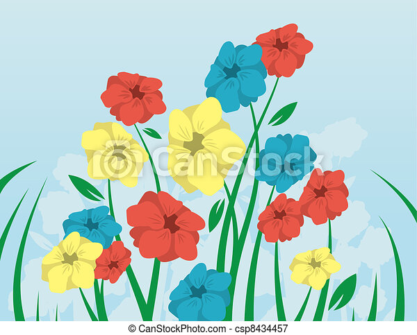 Flowers and Stems  - csp8434457