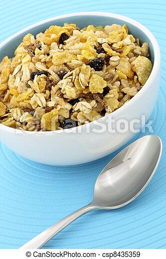 delicious and healthy granola - csp8435359
