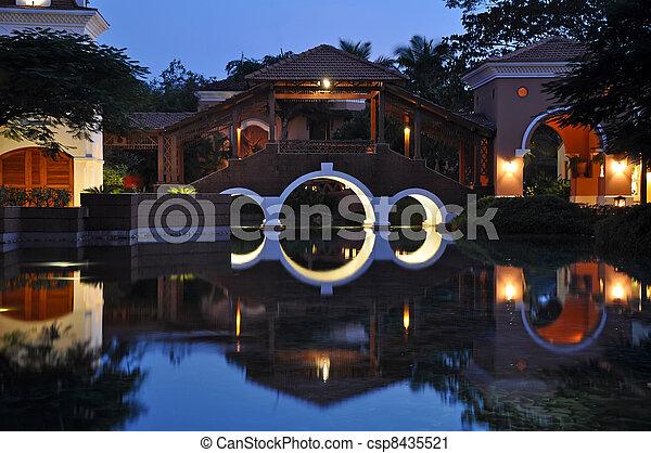 Exterior of Luxury Hotel - csp8435521