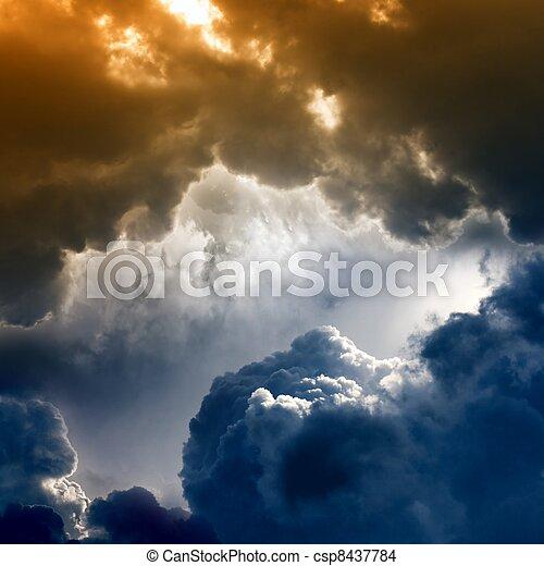 sombre, dramatique, ciel - csp8437784