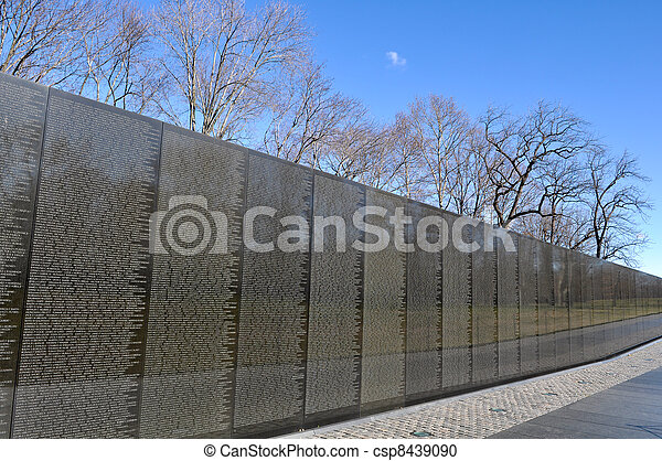 Vietnam War Memorial in Washington DC - csp8439090