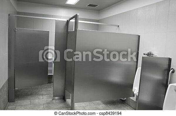 Public washroom stall - csp8439194