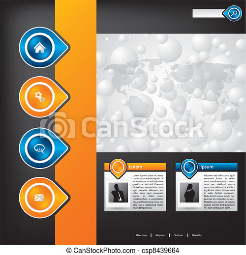 Business website template design - csp8439664