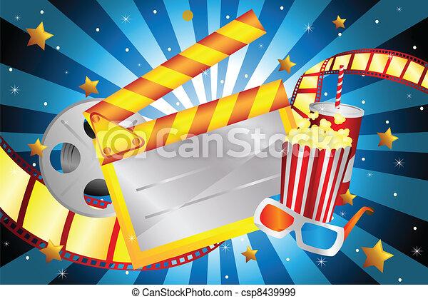Movie background - csp8439999