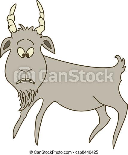 Sad grey goat - csp8440425
